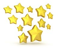 Gold stars falling Stock Photography
