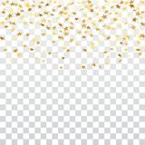 Gold star confetti background Royalty Free Stock Photo