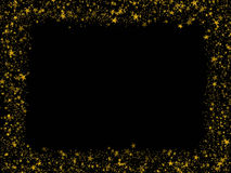 Gold stars frame. Background from bright Royalty Free Stock Images