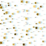 Gold stars. Glitch and Color Channels Effects. Confetti celebrat. Ion, Falling golden abstract decoration for party, birthday celebrate, anniversary or event Royalty Free Stock Photo