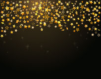 Gold stars Holiday background Royalty Free Stock Photos