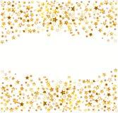 Gold stars Holiday background Stock Photos
