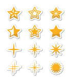 Gold stars  icons set Stock Photography