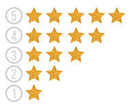 Gold stars illustration design Royalty Free Stock Image