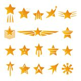 Gold Stars for Logos and Emblems Stock Photo