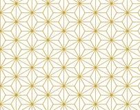 Gold Stars pattern background retro vintage design Stock Images