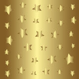 Gold stars pattern, golden style background Royalty Free Stock Photography