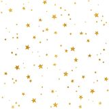 Gold stars pattern. Seamless pattern with gold foil stars for Christmas (or other occasions Royalty Free Stock Photography