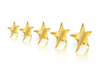 Gold Stars Perspective Stock Photo