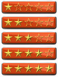 Gold stars ratings Royalty Free Stock Images