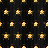 Gold stars seamless pattern Stock Photos