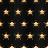Gold stars seamless pattern Stock Photos