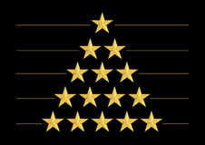Gold stars in shape of triangle Stock Photography