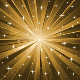 Gold stars vector background Stock Image