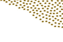 Gold stars on white background Royalty Free Stock Photo