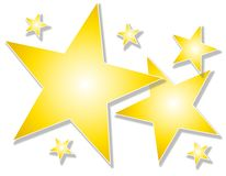 Gold Stars on White Background Royalty Free Stock Image