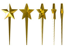 Gold stars on a white background Stock Photography