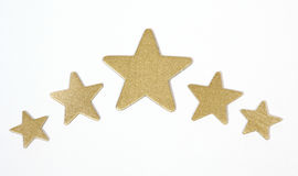 Gold stars Stock Image
