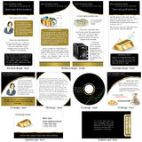 Gold stationary Royalty Free Stock Image