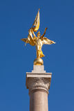 Gold statue atop World War I Memorial in Washington DC Stock Image