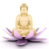Gold statue of Buddha Stock Images