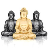 Gold statue of Buddha Royalty Free Stock Photos
