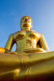 Gold statue of the Buddha Royalty Free Stock Photography