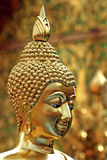 Gold statue of Buddha, Chiang Mai, Thailand Royalty Free Stock Photography