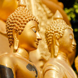 Gold statue of Buddha in Mae Sot, Thailand. Royalty Free Stock Photos