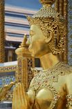 Gold statue in grand palace. In bangkok Royalty Free Stock Photo