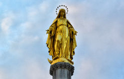 Gold Statue. Gold historic statue on Austria royalty free stock photo