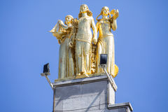 Gold Statue in Lille Royalty Free Stock Image