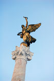 Gold statue of a symbolic peace's angel, Rome Stock Images