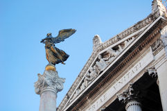 Gold statue of a symbolic peace's angel, Rome Royalty Free Stock Photos