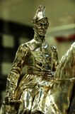 Gold Statue of Wellington Royalty Free Stock Images