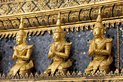 Gold Statues at the Grand Palace, Bangkok Stock Photos