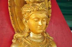 Gold Statues of Hindu Goddess Stock Photos