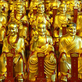 Gold statues of the Lohans Royalty Free Stock Photos