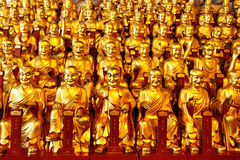 Gold statues of the Lohans Stock Image