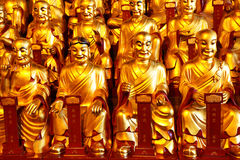 Gold statues of the Lohans Royalty Free Stock Photo