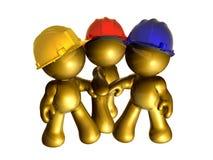 Gold stellt Holdinghand zusammen dar Stockfotos