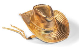 Gold stetson. Child's gold lame stetson dress up hat Stock Photography