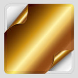 Gold Sticker. Stock Image