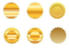 Gold sticker set Royalty Free Stock Photography