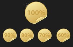 Gold stickers Royalty Free Stock Image
