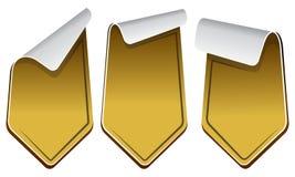 Gold stickers set Stock Photos