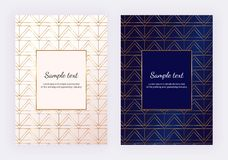 Gold stieg geometrische Linien auf der weißen Marmorbeschaffenheit Unbedeutendes Design Moderner Hintergrund für Einladung, Karte vektor abbildung