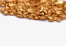 Gold stone background. Gold stone on the white background stock images