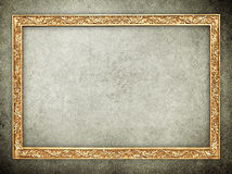 Gold stone frame background Stock Image