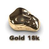 Gold stone 18k Royalty Free Stock Image